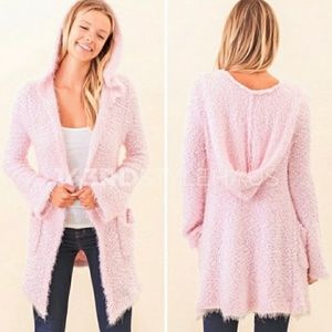 🌸LAST🌸ONE🌸Popcorn knit cardigan.hood&pockets